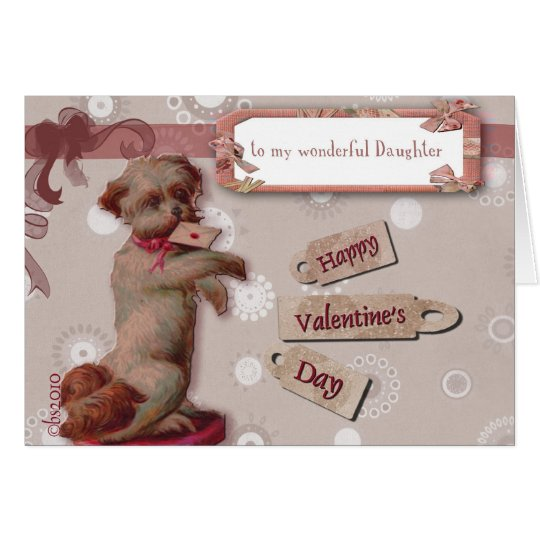 happy valentine's day to my daughter cute dog