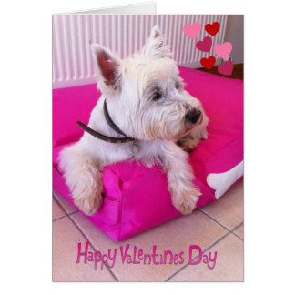Happy Valentine's Day Westie Card