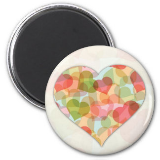 Happy Valentines Day with colorful hearts Magnets