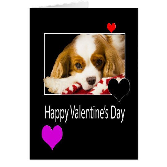Happy Valentine's Day With King Charles Spaniel Card