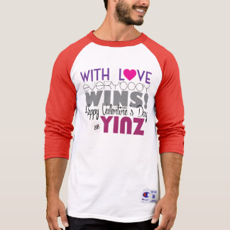 Happy Valentine's Day Yinz Baseball Tee