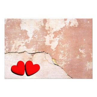 Happy Valentine's hearts Photo Print