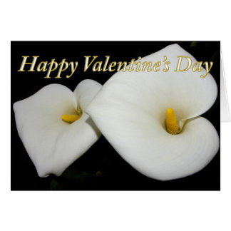 happy valentine's lilies card
