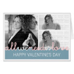 Happy Valentines Photo Greeting Card | 3 Images