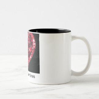 Happy Valentines Two-Tone Coffee Mug