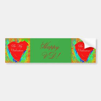 happy  vd valentine's bumper sticker