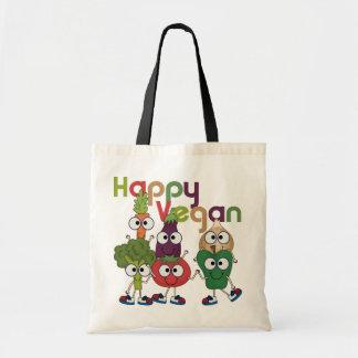 Happy Vegan Budget Tote Bag