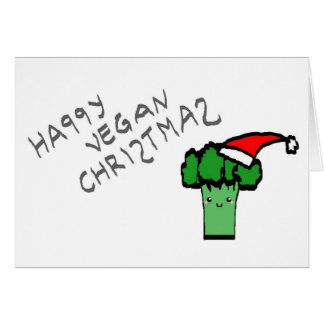 Happy vegan Christmas Card