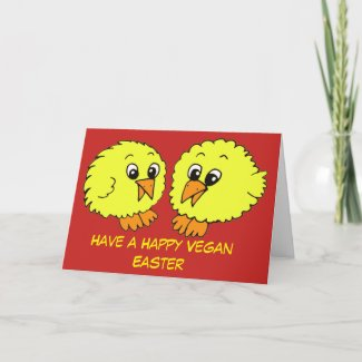 Happy Vegan Easter Chick Card