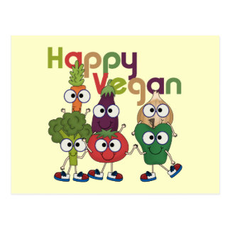 Happy Vegan Postcard