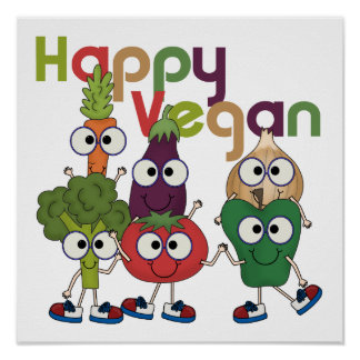 Happy Vegan Poster