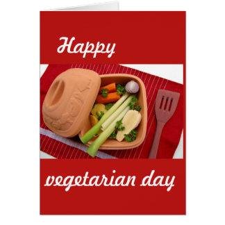 Happy vegetarian day postcard