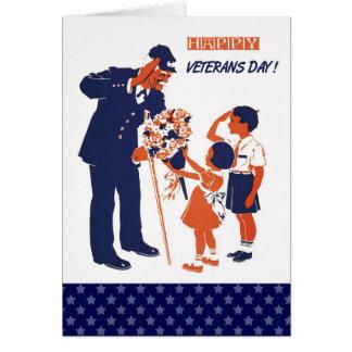 Happy Veterans Day. Custom Greeting Cards