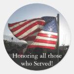 Happy Veterans Day! Round Stickers
