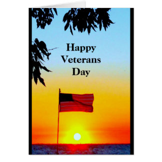 Happy Veterans Day - Thank You For Your Service Card
