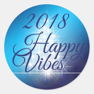 Happy Vibes 2018 Sticker Round