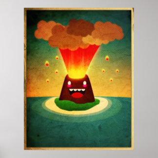 Happy Volcano Poster