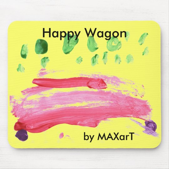 """Happy Wagon"" by MAXarT Mouse Mat"