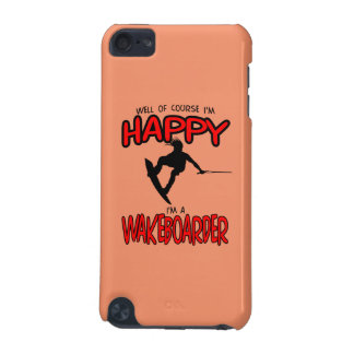 HAPPY WAKEBOARDER (black) iPod Touch (5th Generation) Covers