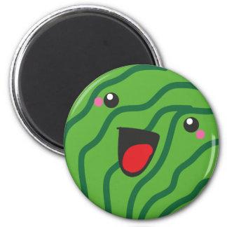 happy watermelon 6 cm round magnet