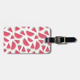 Happy Watermelon Pattern - Choose Your Background Luggage Tag