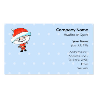 Happy Waving Christmas Santa Double-Sided Standard Business Cards (Pack Of 100)