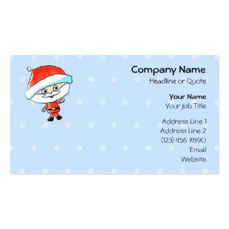 Happy Waving Christmas Santa Business Card Template