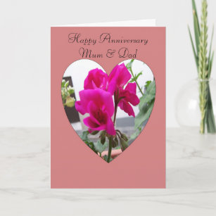 Mother and father wedding anniversary greeting cards zazzle uk happy wedding anniversary mother and father card m4hsunfo