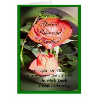 Wedding Gift For Sister And Her Husband : Happy Wedding Anniversary Sister And Husband Greeting Card