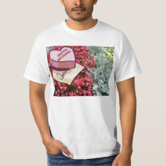Happy wedding, flowers and gift t shirts