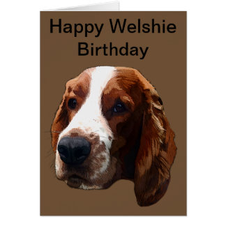 Happy Welshie Birthday Card