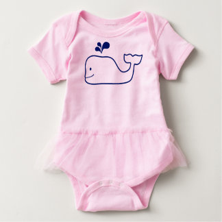 HAPPY WHALE BABY BODYSUIT TUTU