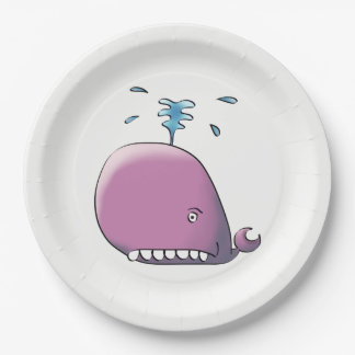 Happy Whale Paper Plate
