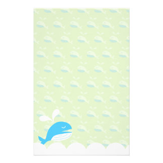 Happy Whale Stationery