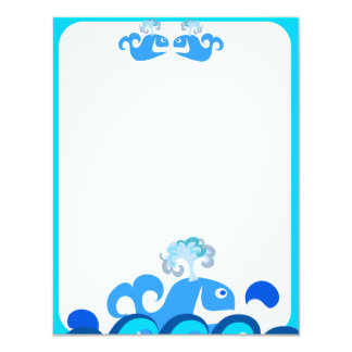 Happy Whale Stationery! 11 Cm X 14 Cm Invitation Card