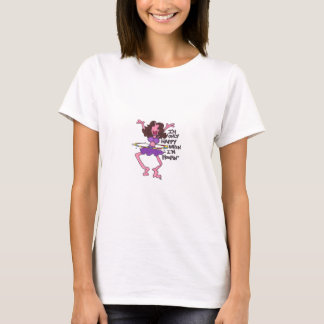 Happy When I'm Hoopin' Brunette T-Shirt