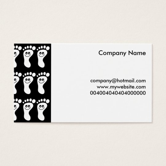 Happy White Feet, Business Card