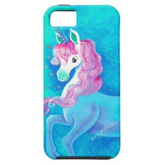 Happy White Unicorn Tough iPhone 5 Case