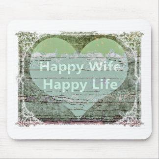 Happy Wife Happy Life by Kaye Talvilahti Mouse Pad