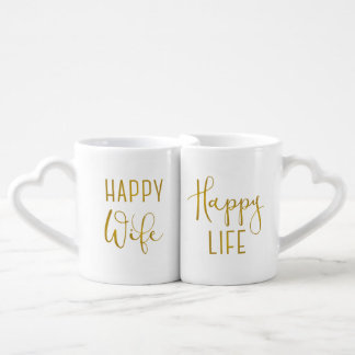 Happy Wife, Happy Life Coffee Mug Set