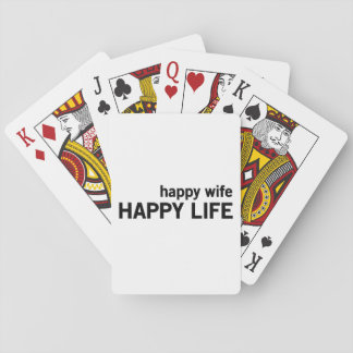 Happy Wife Happy Life Playing Cards