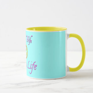 Happy Wife Happy Life Smiley Face Mug