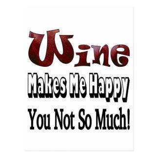 Happy Wine Postcards