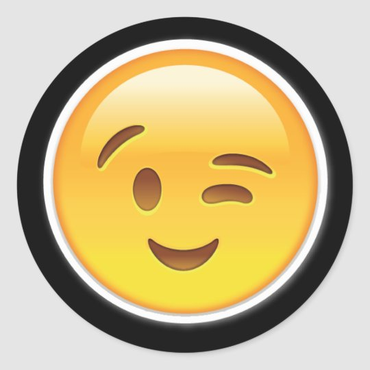 happy wink eyes emoji stickers