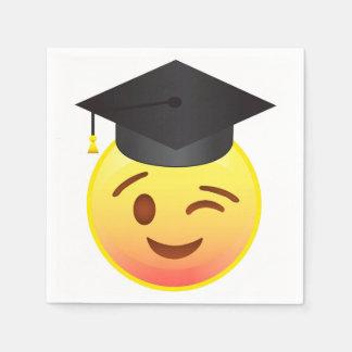 Happy Winking Emoji Face Graduation Party Napkins Paper Serviettes
