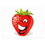 Happy Winking Strawberry Face