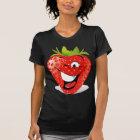 Happy Winking Strawberry Face T-Shirt