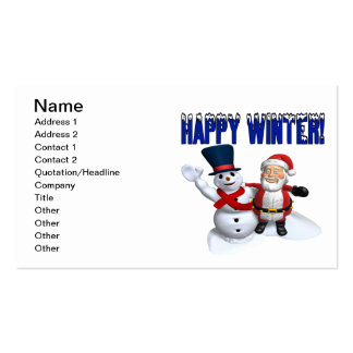 Happy Winter 2 Pack Of Standard Business Cards