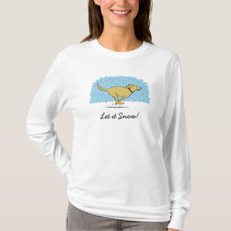 Happy Winter Snow Dog Holiday - Let it Snow T-Shirt