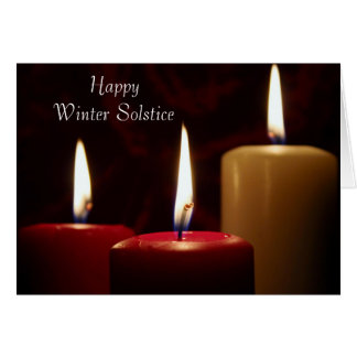 Happy Winter Solstice candles Greeting Card